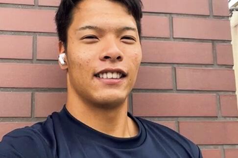 パラ陸上/大島健吾選手の日常の表情写真