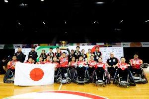 写真:車いすラグビー日本代表チーム