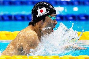 金メダルを獲得した水泳・山口尚秀選手