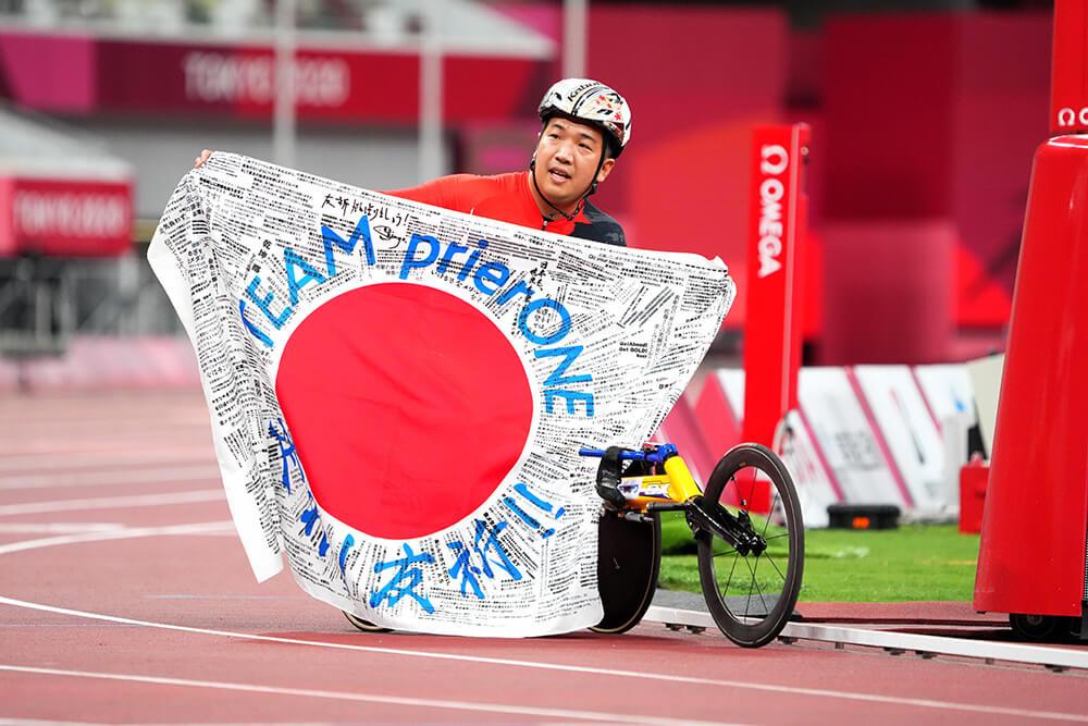 パラ陸上で金メダルの佐藤友祈選手