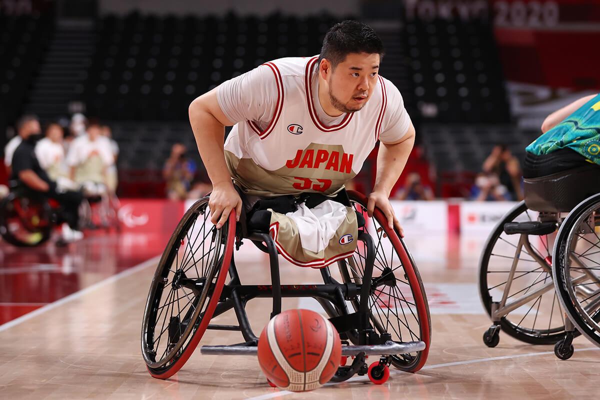車いすバスケットボール香西宏昭選手