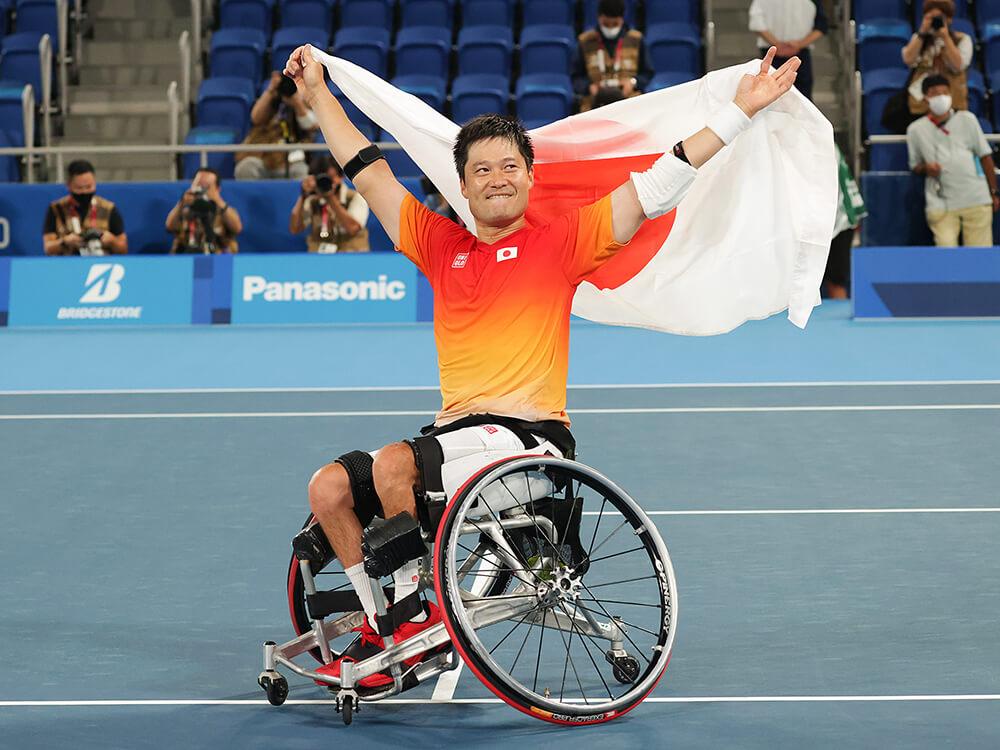 東京2020パラリンピック車いすテニス男子で金メダルの国枝慎吾