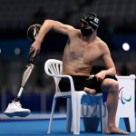9月1日、水泳男子200m個人メドレーSM9決勝に向けたアスリートの静かな時間を描写