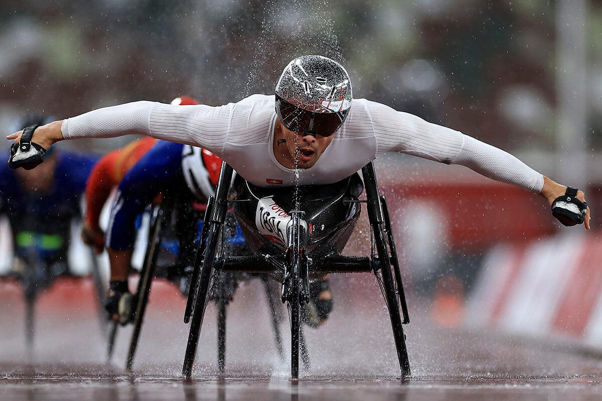 東京パラリンピック陸上男子800mT54決勝、スイスのマルセル・フグ選手が金メダル