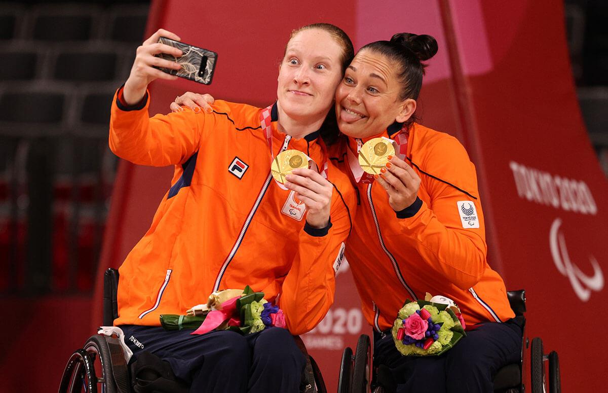 車いすバスケ女子オランダ金メダル