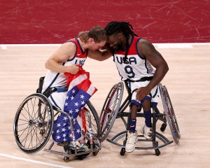 車いすバスケ男子金メダルのアメリカ代表